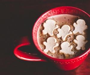 winter, hot chocolate, and chocolate image