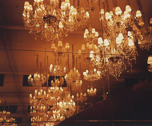 light, vintage, and chandelier image