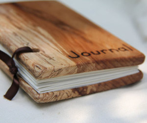 journal, book, and wood image