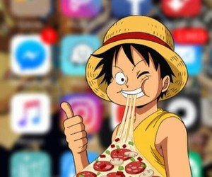 one piece, wallpaper, and luffy image