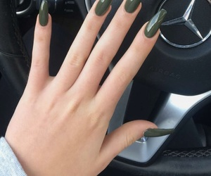 nails, green, and mercedes image