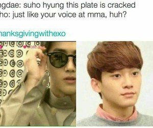 exo, kpop, and memes image