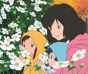 anime, wolf children, and gif image