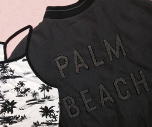 black, bomber, and palm tree image