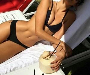 bikini, pool, and summer image