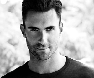 black and white, singer, and levine image