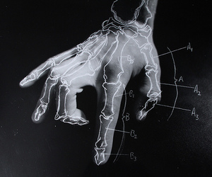 black and white, hand, and diagram image