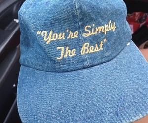 blue, tumblr, and cap image