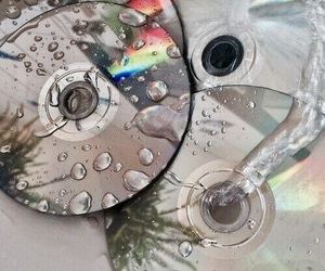 cd, water, and grunge image