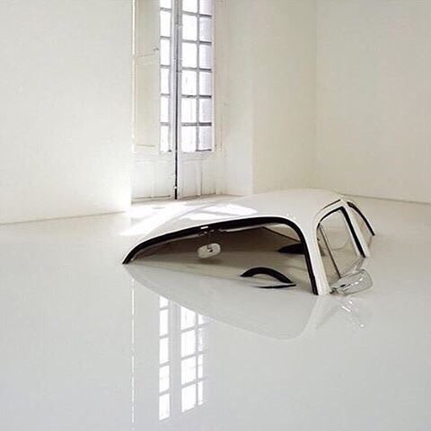 white, car, and art image
