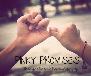 hands, love, and pinky promise image