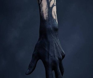 black, hand, and dark image