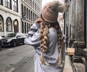 careless, hair, and girl image