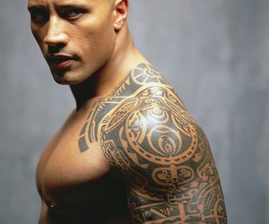 tattoo, the rock, and Dwayne Johnson image