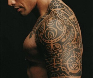 the rock, Dwayne Johnson, and tattoo image