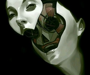 face and robot image