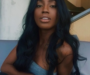 girl, melanin, and makeup image