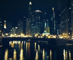 chicago, night, and city image