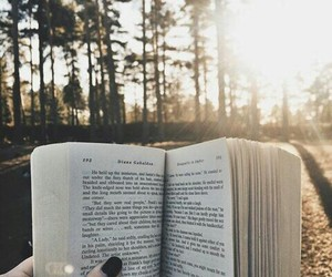 book, reading, and forest image