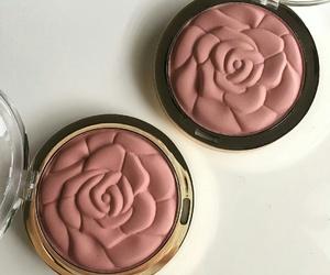 makeup, rose, and blush image