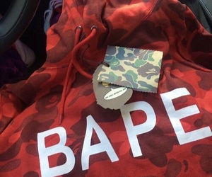 red, bape, and ghetto image