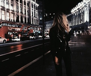 girl, london, and night image