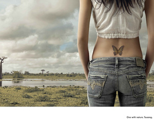 ad, ass, and butterfly image