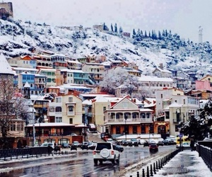 snow, tbilisi, and winter in tbilisi image