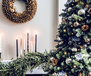 candles, tree, and winter image