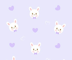 bunny, pattern, and purple image