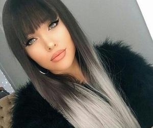 beautiful, girl, and grey image