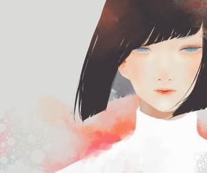 anime girl, art, and view image