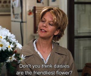 daisies, flowers, and Meg Ryan image