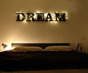 Dream, light, and bed image