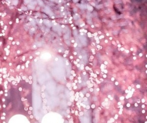 pink, light, and christmas image