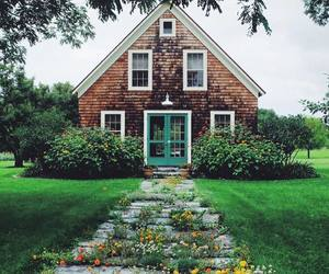home, house, and flowers image