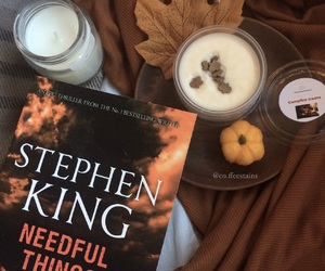 aesthetic, book, and pumpkin image