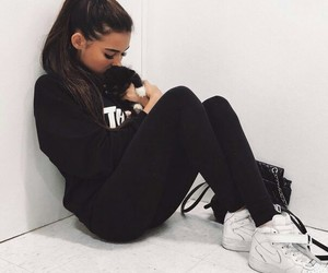 madison beer, madison, and black image