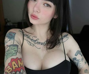 beautiful, brown eyes, and fake tits image