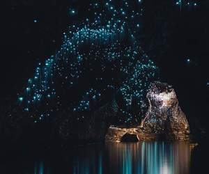 cave, light, and nature image