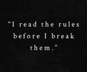 quotes, rules, and break image