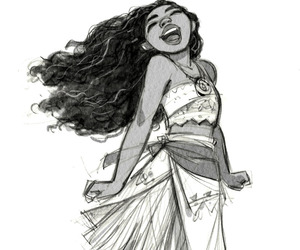 moana, art, and cute image