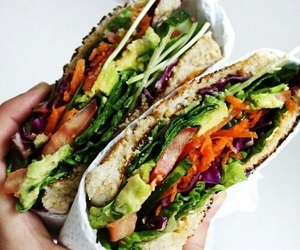 food, healthy, and sandwich image