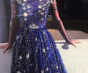 dress, stars, and blue image