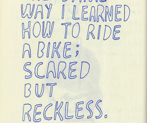 love, quote, and reckless image