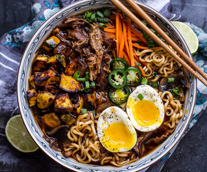 food, ramen, and soup image