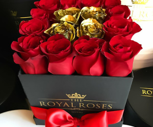 gold and roses image