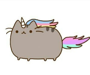 unicorn, cat, and pusheen image