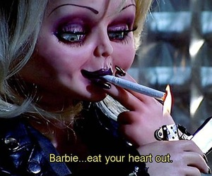 barbie, Chucky, and smoke image