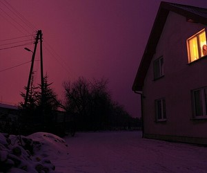 sky, purple, and dark image